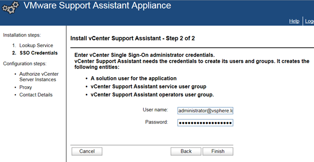 vCenter Support Assistant Configuration Guide | VMignite com